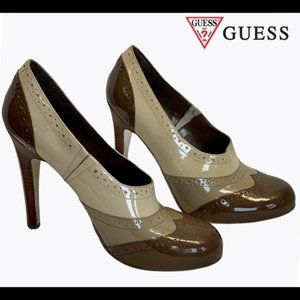 Guess by Marciano Brown Patent heels  (Size 8)
